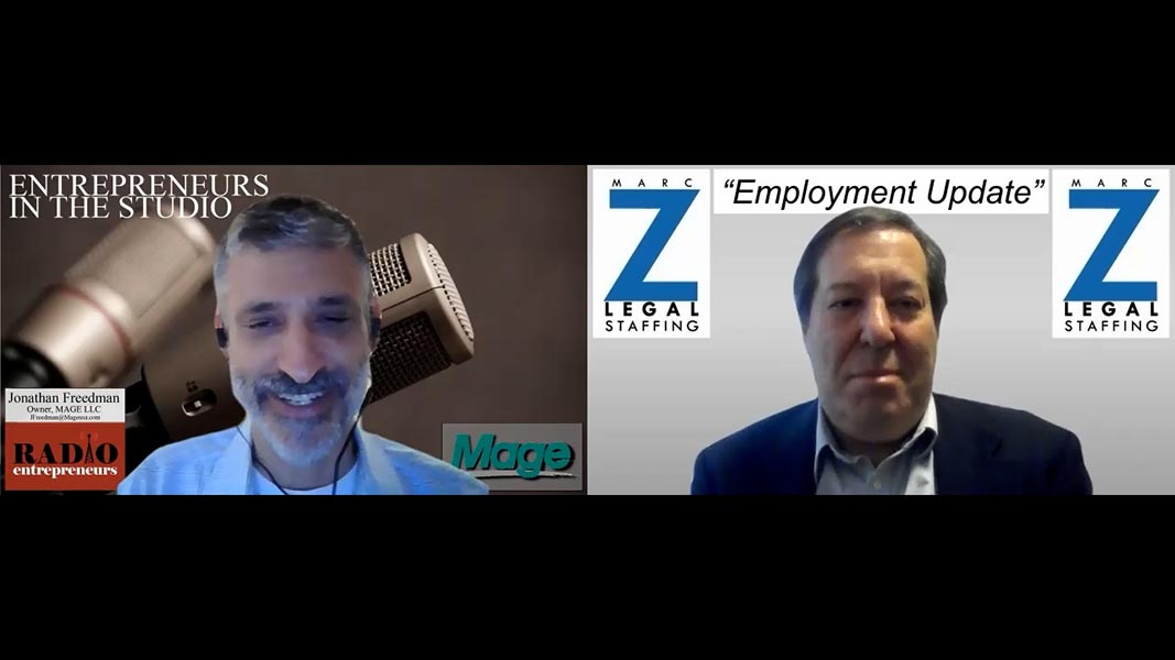 """""""Disconnects In The Hiring Process"""" with Marc Zwetchkenbaum of Marc Z Legal"""